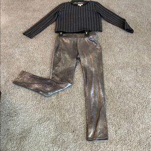 Metallic Two Piece Suit NWT